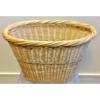 OVAL WICKER BASKET 48X36X27CM