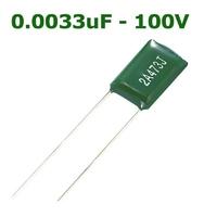 0.0033uF - 100V | MYLAR FILM CAPACITOR 0.0033UF 100V +/- 5% BULK ROHS