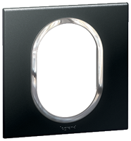 Arteor (British Standard) Plate 3 Module 1 Gang Round Graphite| LV0501.2303