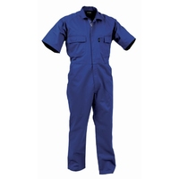 Turu Short Sleeve Polycotton Zip Overalls 270gsm