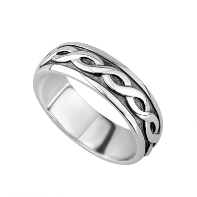 GENTS STERLING SILVER CELTIC RING