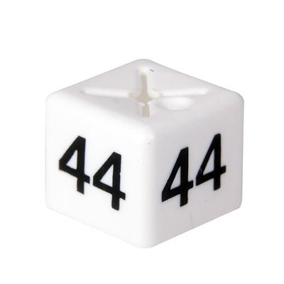 SHOPWORX CUBEX 'Size 44' Size cubes - White (Pack 50)