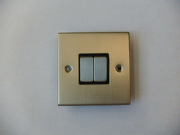 2 Gang 2 Way INGOT Satin Chrome Switch