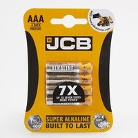 JCB BATTERY SUPER ALKALINE AAA CARD 4