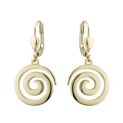 GOLD PLATED SWIRL DROP EARRINGS