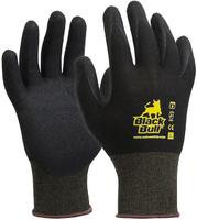 Black Bull Sandy Nitrile Glove Pkt 12