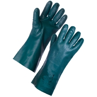 Supertouch PVC Double Dip Gauntlet - 35 cm, Green