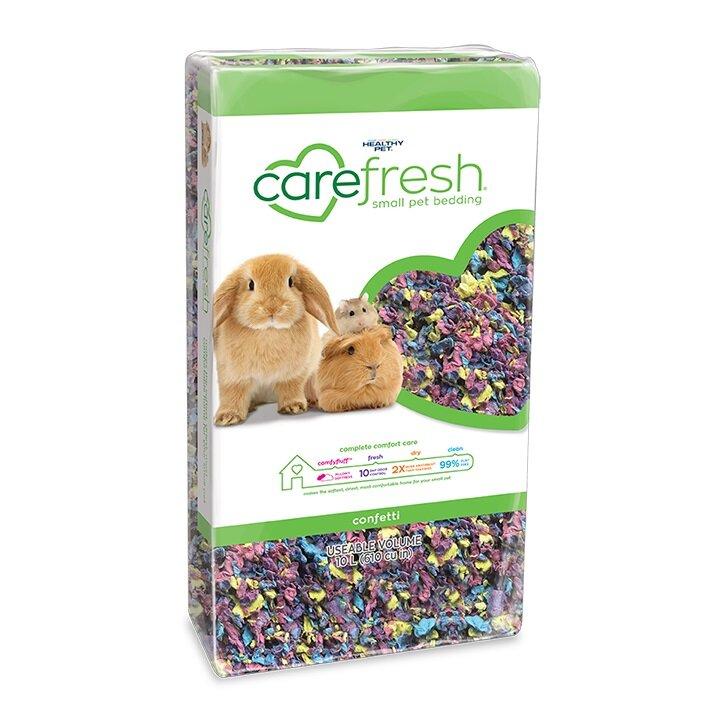 Carefresh Small Animal Bedding - Confetti 10 litre x 4