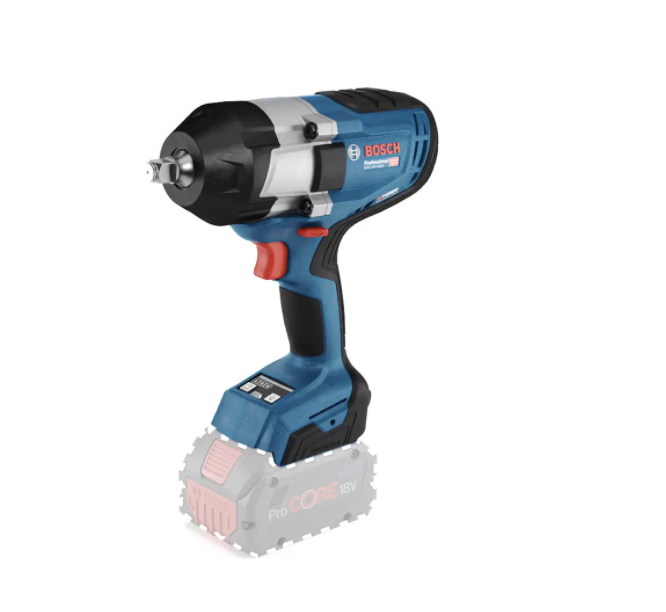Bosch GDS18V-1000 18v Biturbo Brushless 1/2'' Impact Wrench Tightening Torque of 1000Nm with breakaway torque of 1600Nm, 3 speed 2.9kg Bare Unit