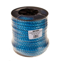 12mm Blue Poly Rope Reel 55m (C479)