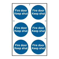 Fire Door Keep Shut Sign 200x300mm