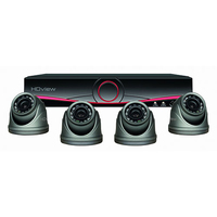 4CH HD 1TB DVR & Dome Camera Kit Black
