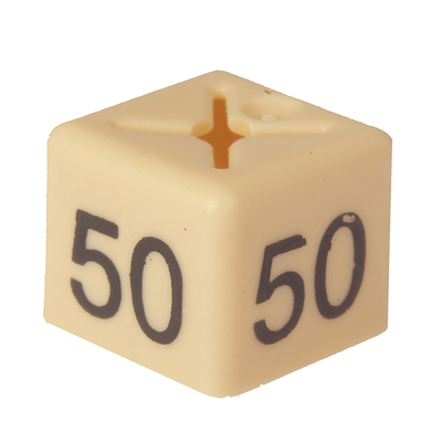 SHOPWORX CUBEX 'Size 50' Size cubes - Beige (Pack 50)