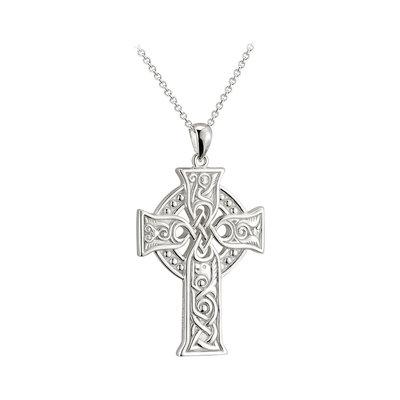 sterling silver large apostles celtic cross pendant s46605 from Solvar