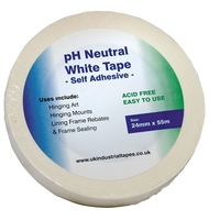 White PH neutral Tape 24mm x 55 meters