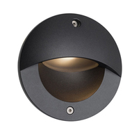 ANSELL 3W Parona Circular 4000K LED Wall Light Graphite