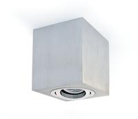 Square GU10 Surface Spot Aluminium with Aluminium Trim | LV1202.0086