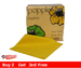 Dinner Napkins Yellow 40cm 2ply pk 125