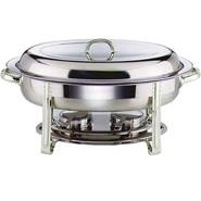 Chafing Dish Oval Stainless Steel 500 x 312 x 286mm High