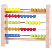 Colourful wooden abacus for kids - 5 bars, 50 beads, 5 colours