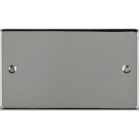 Schneider Ultimate Low Profile 2Gang blank plate Polished Chrome | LV0701.0246