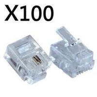 RJ11 Telephone Connectors 100pck