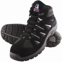 Steel Blue Darwin Sports Style Lace-Up Ankle Boots Black