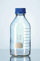 Plastic Coated Reagent Bottle, Clear, 100ml,