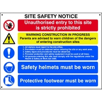 Site Safety Notice Sign 800x600mm