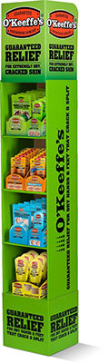 O'Keeffes Mixed Floor Display 40pce