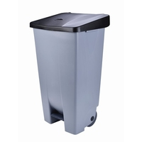 Waste Container Step On 60Litre Grey 490x380x700mm