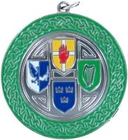50mm Silver Enamelled Irish C'Ship Medallion