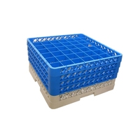 Glass Rack 49 Compartment with 4 Blue Extenders