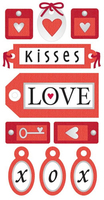 Love Tags Large Essential Craft Sticker. (Priced in singles, order in multiples of 6)