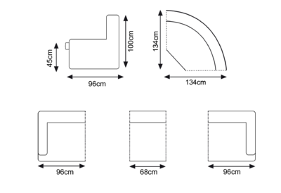 levanzo grey modular sofa 2