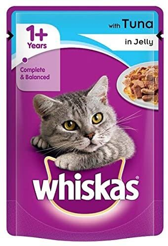 Whiskas Pouch Chunks in Jelly Tuna 24 x 100g