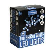 KINGFISHER 100 STATIC BLUE LED CHRISTMAS LIGHTS
