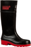 Commando Tough Safety Gumboot Black/Red Sole