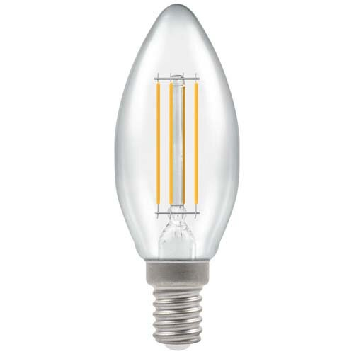 LED CANDLE FILAMENT 5W DIM 2700K SES CLR