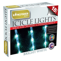 KINGFISHER 80 WHITE ICICLE LED CHRISTMAS LIGHTS