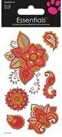 Bohemian Floral Essential Craft Sticker. (Priced in singles, order in multiples of 6)