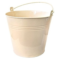 13 LTR GALVANISED BUCKET (CREAM)
