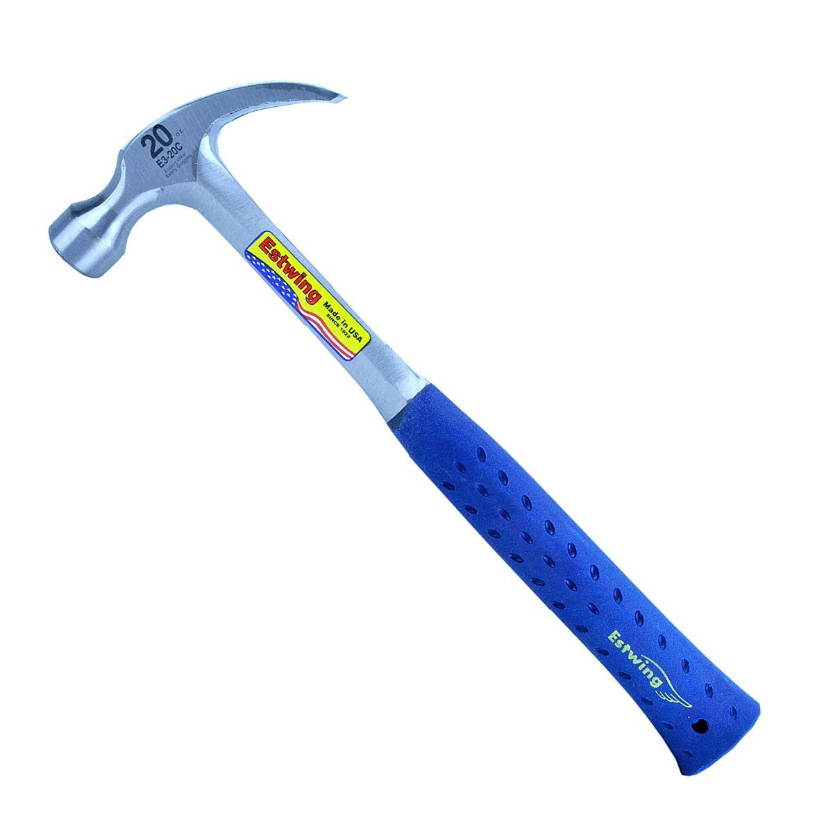 ESTWING E3-20C 20OZ CLAW HAMMER WITH VINYL GRIP HANDLE