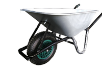 VICTOR WHEELBARROW 90L GALVANISED TUB