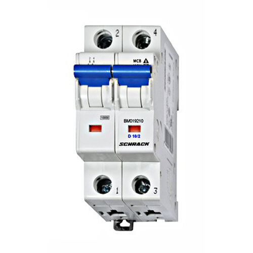 MCB, 10 Amp 2 Pole D Type