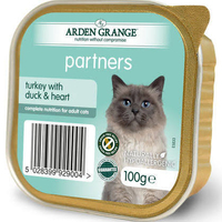 Arden Grange Partners Cat Trays - Turkey, Duck & Heart 100g x 16