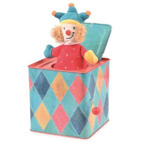 Traditional Jack in the Box Musical Toy - Colourful Jester