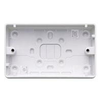 MK K2183WHI Logic Plus Box 2G Surface PVC 32mm WHI