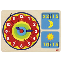 Children's Wooden Learn to Tell the Time Game