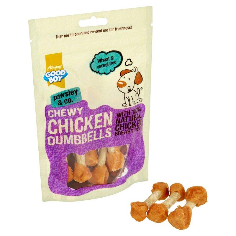 Good Boy Chewy Chicken DumbBells 8 x 100g